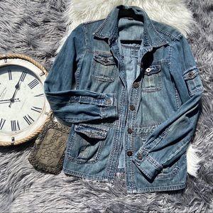 J.Crew Denim Jacket Blazer Size Large